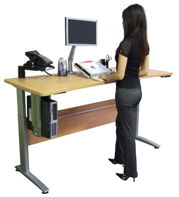 High office chair for standing desk - Ditch The Chair And Get A Stand Up Desk Natural Running