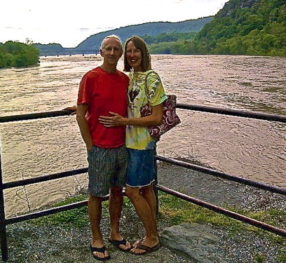 Phil and Coralee at the junction of Potomac and Shenandoah.